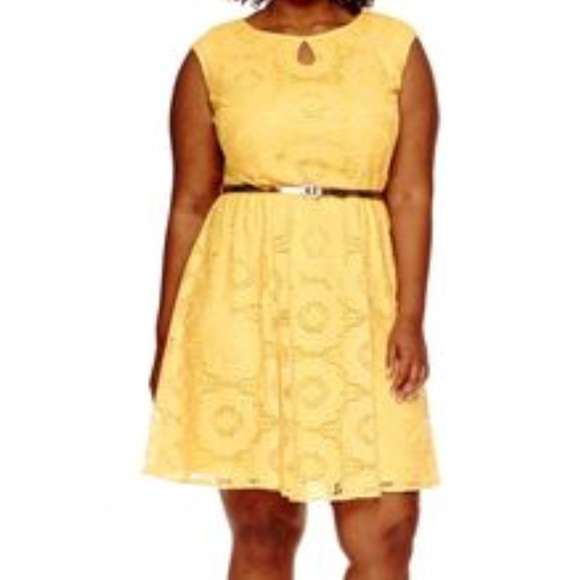 Plus Size Yellow Dress